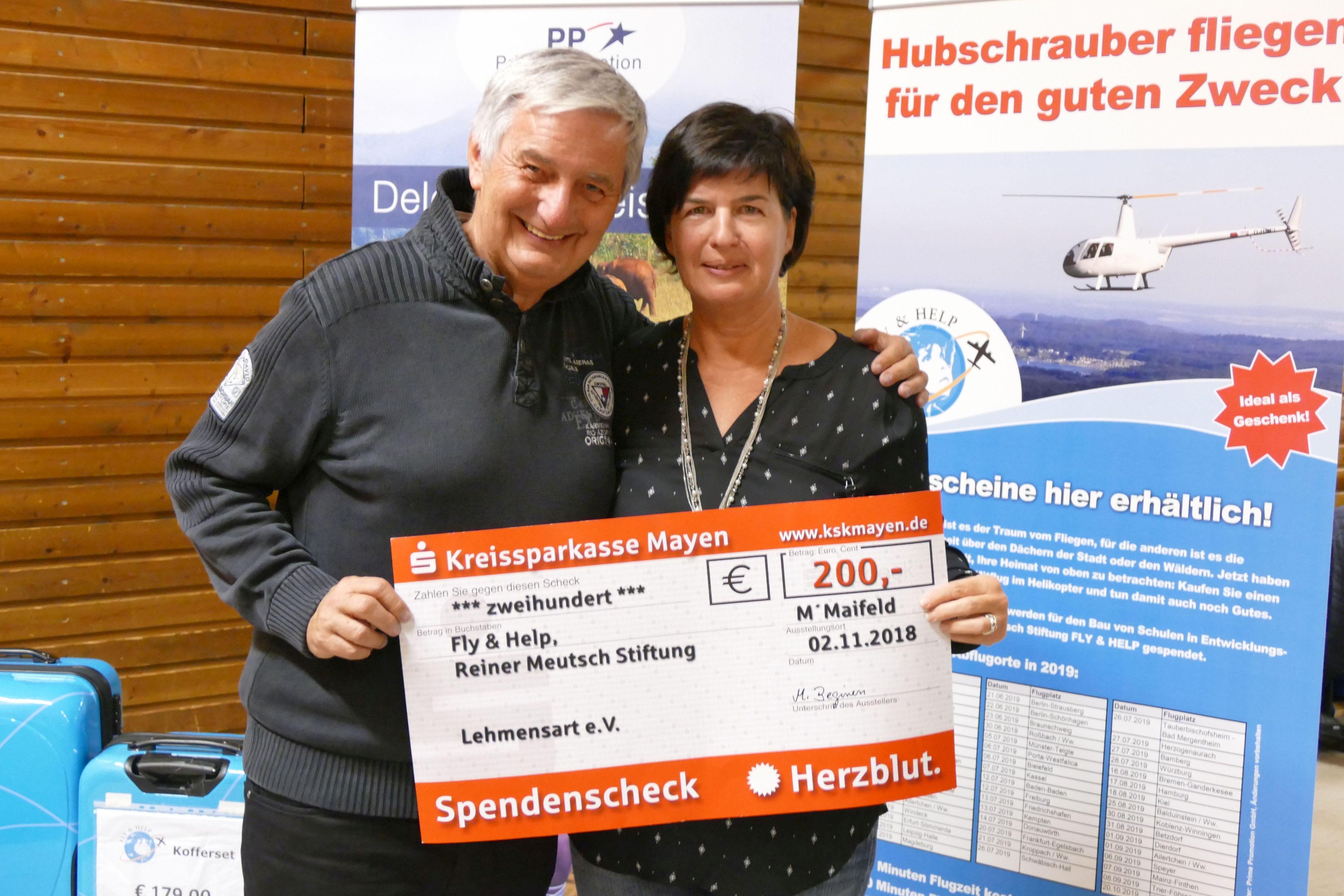 Reiner Meutsch und Monika Beginen, 1. Vorsitzende
